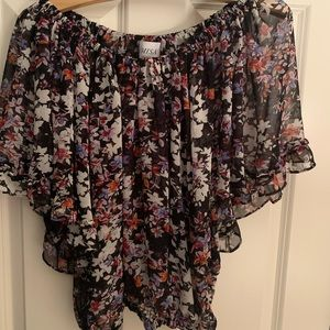 Misa floral cropped blouse , never been worn .